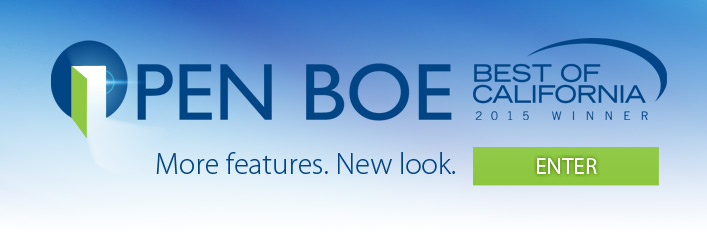 OPEN BOE Best of California 2015 Winner. More features. New look. Enter.