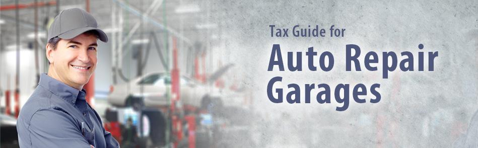 Tax guide for auto repair garages for Bureau automotive repair